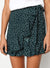 Side tie Polka dot print Ruffle Mini Skirt