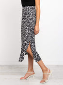 Black Leopard Long Skirt