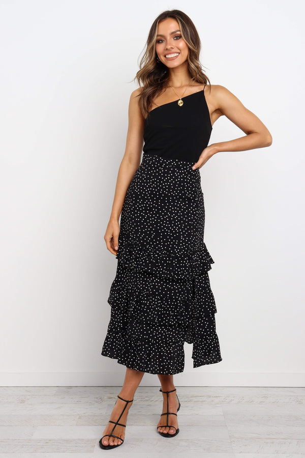 Jiro Long Skirt- Black