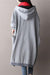 Women Plus Size Cotton Gray Dress