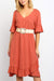 Talise Dress - Rust