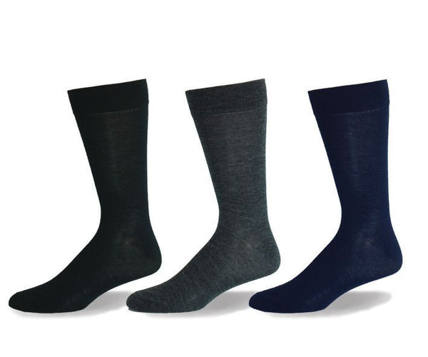 Mens Merino Plain Wool Socks