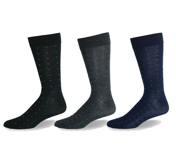 Mens Merino Wool Four Dots Sock