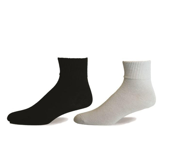 Non Elastic, Diabetic, Quarter, Cotton, Seamless Toe, Non Elastic Band