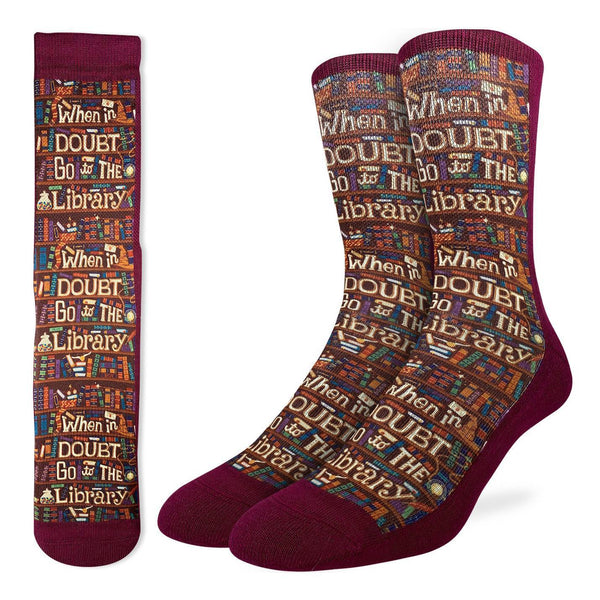 Mens Go To The Library Sock