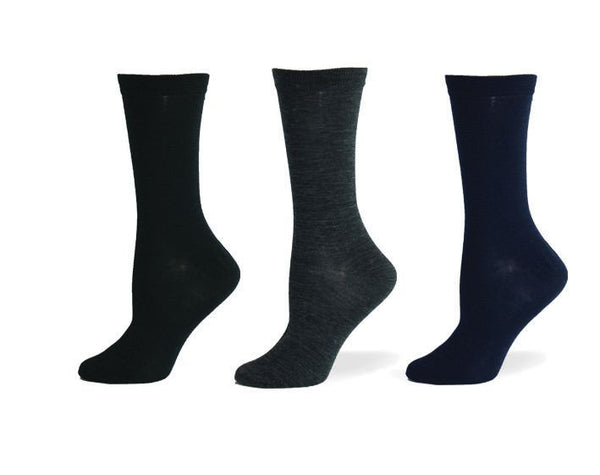 Ladies Merino Wool Plain Sock