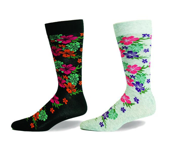 Hibiscus Flower, Floral, Flower, Dress Sock, Cotton