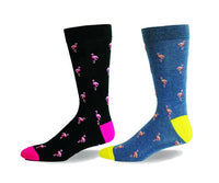 Flamingo, Birds, Animals, Cotton, Dress Sock