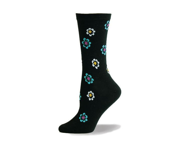 Ladies Colourful Flower Sock