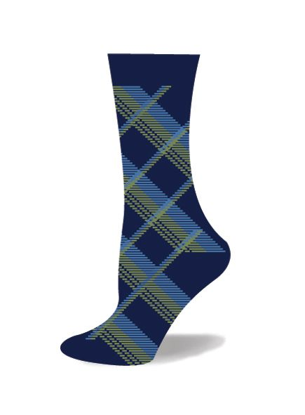 Ladies Bamboo Plaid Sock
