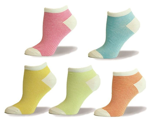 Summer Colour Stripes Assorted Ankle, Summer, Outdoor Sport, Walk