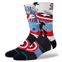 Mens Captain America Marquee Sock