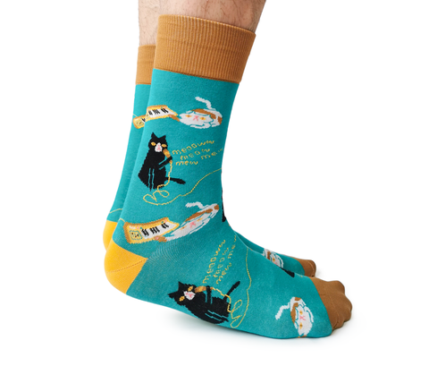 Mens Cats Karaoke Sock