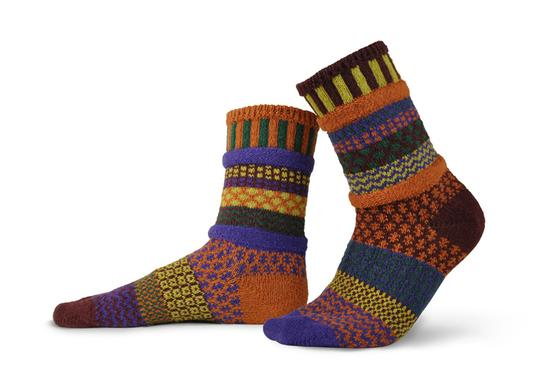 Unisex Fall Foliage Recycled Cotton Sock
