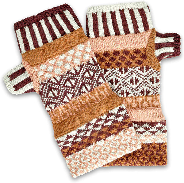 Amaranth Fingerless Mittens