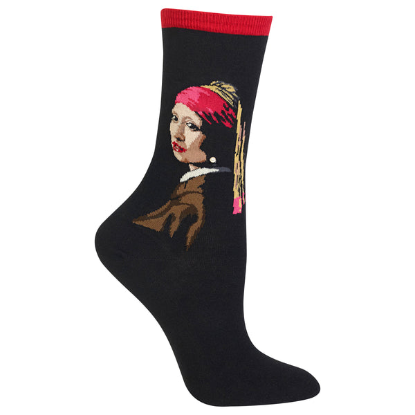 Ladies Girl with a Pearl Earring Sock