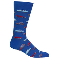 Mens Vintage Cars Sock