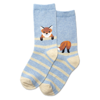 Kids Fox Stripes Sock