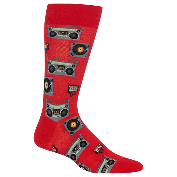 Mens Retro Music Sock