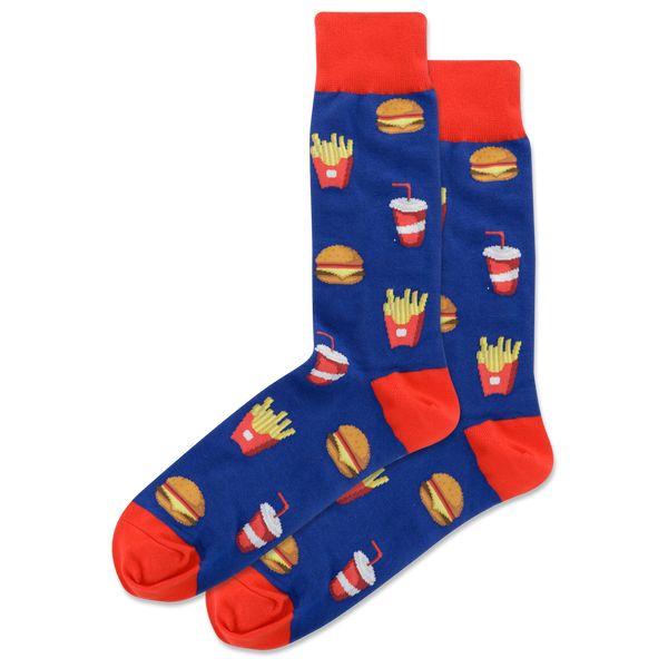 Mens Burgers & Fries Sock
