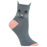 Ladies Cat Ears Ankle Sock