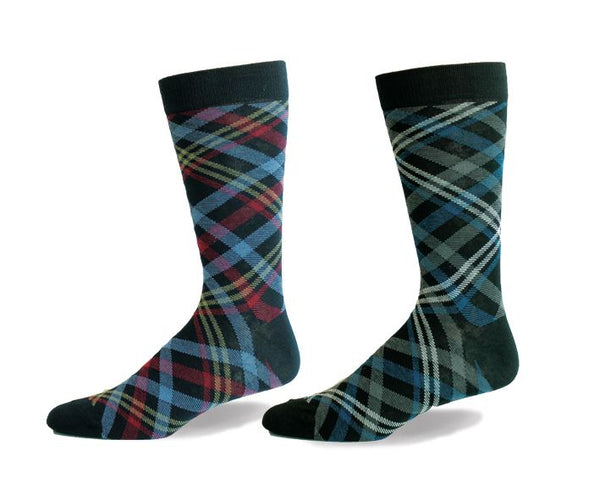 Mens Classic Plaid Sock