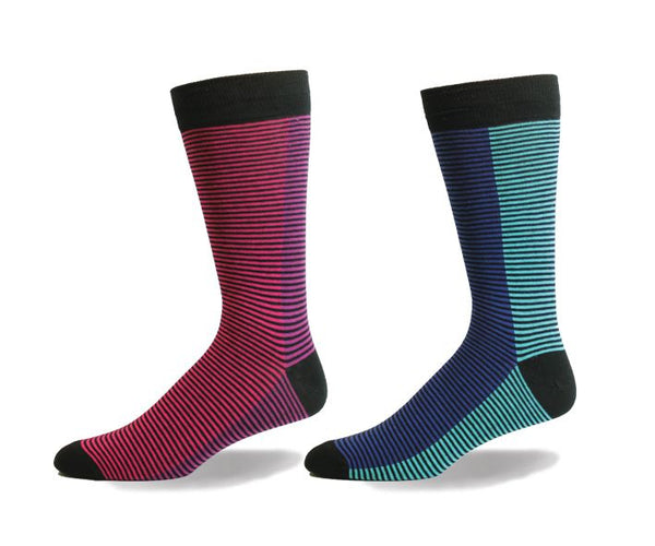 Mens Divided Lines Sock