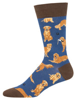 Mens Golden Retrievers Sock