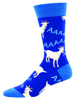 Billy Goat on Blue Socks, Animals, Loud,Farm, Wild, Herds
