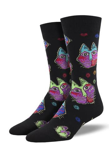 Mens Cat Heads Sock
