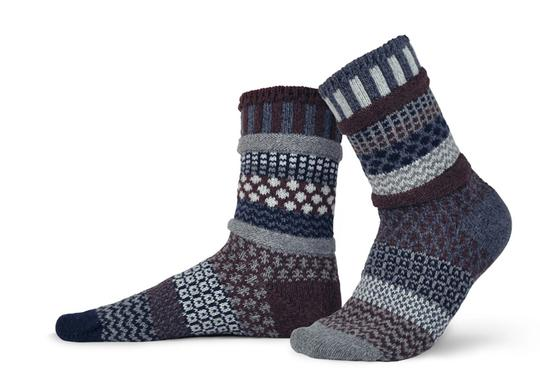 Unisex Mahogany Recycled Wool Sock