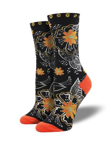 Laurel Burch Black and White Floral