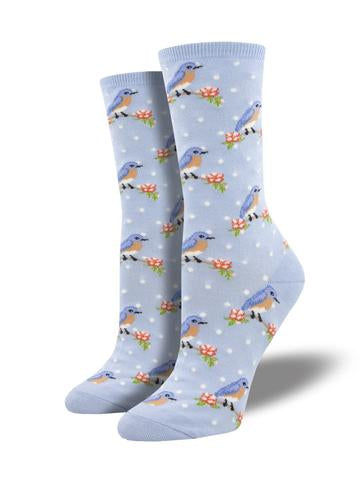 Ladies Blue Bird Sock