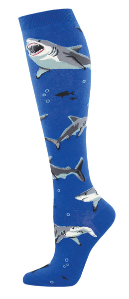 Ladies Shark Chums Knee High Sock