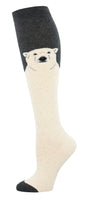 Ladies Polar Bear Knee High Sock