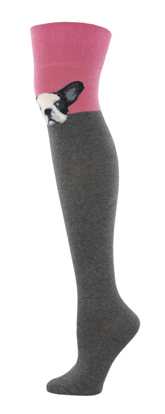 Ladies Pink French-Knee Over The Knee Sock