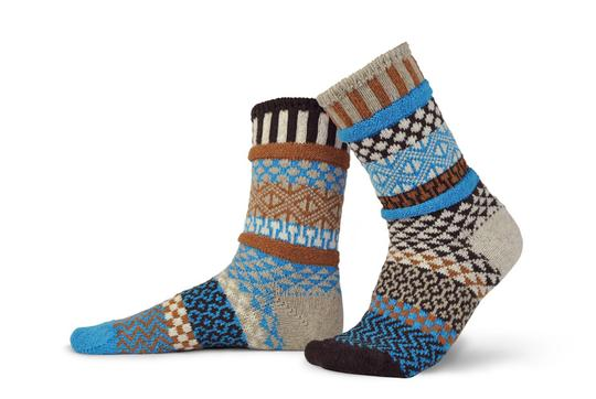 Unisex Walnut Recycled Wool Sock