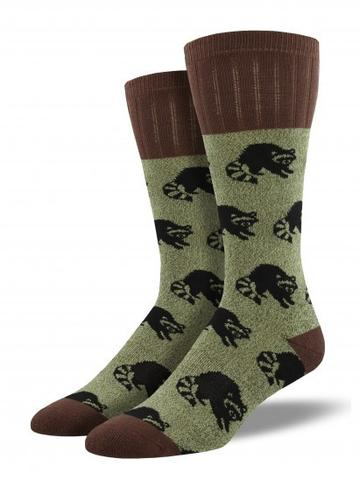Mens Raccoon Boot Sock