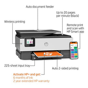 HP OfficeJet Pro 8025e All-in-One Wireless Color Printer-for home office, with bonus 6 months free Instant Ink with HP+, works with Alexa (1K7K3A)