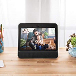 "Facebook Portal Black - Alexa Built-in, 10"" Touch Screen - FREE Support by Main Source 365 Tech."