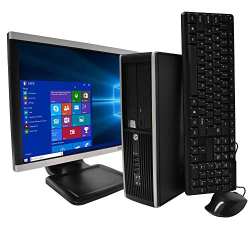 HP Elite Desktop Windows 10 PC  i5 Intel Core 19-inch LCD Monitor + WIFI Computer For Sale