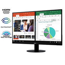 Load image into Gallery viewer, 21.5 Inches Full HD (1920 x 1080) IPS Ultra-Thin Zero Frame Monitor (HDMI & VGA Port), Black