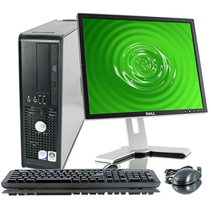 "Dell Desktop Windows 10 PC 17"" LCD HD Monitor, Headset, Keyboard, Mouse Package Computer For Sale"