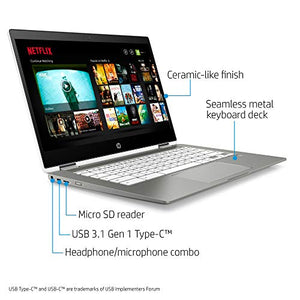 Chromebook HP 14-inch HD Touch Screen Laptop, Intel N4000, 4 GB RAM,  Chrome (White/Mineral Silver)