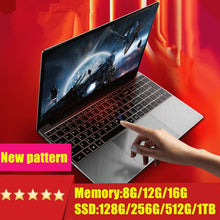 Load image into Gallery viewer, 15.6 inch Gaming Laptop With i7 CPU16G RAM 1TB 512GB 256GB 128GB 64GB SSD ROM Notebook Computer Backlit Keyboard Win10 Ultrabook