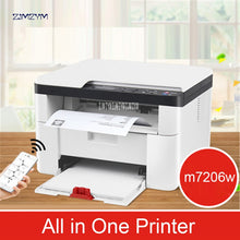 Load image into Gallery viewer, Wireless Laser Printing Machine Copy Scanning Office Home Triple Business Multi-function M7206W All in One Printer 600*600dpi