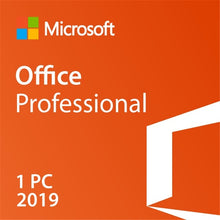 Load image into Gallery viewer, Microsoft Office Professional 2019 For Windows 10 Product Key Code Retail Box