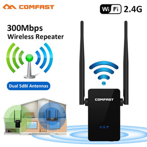COMFAST Wireless Wifi Repeater 300Mbps 802.11n/b/g Network Wifi Extender Signal Amplifier Signal Booster Repetidor CF-WR302S