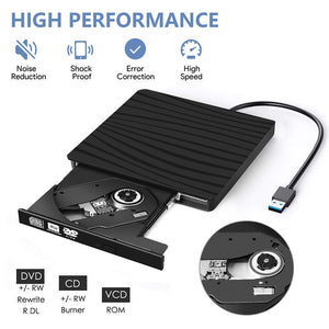 USB 3.0 External DVD Burner Writer Recorder DVD RW Optical Drive CD/DVD ROM Player MAC OS Windows XP/7/8/10 ABS Plastic Material