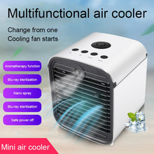 Load image into Gallery viewer, Mini Air Conditioner Portable Desktop Air Conditioning Cooler Home Office Bedroom Air Cooler With Ice Cube Quick Air Conditioner